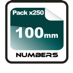 10cm (100mm) Race Numbers - 250 pack